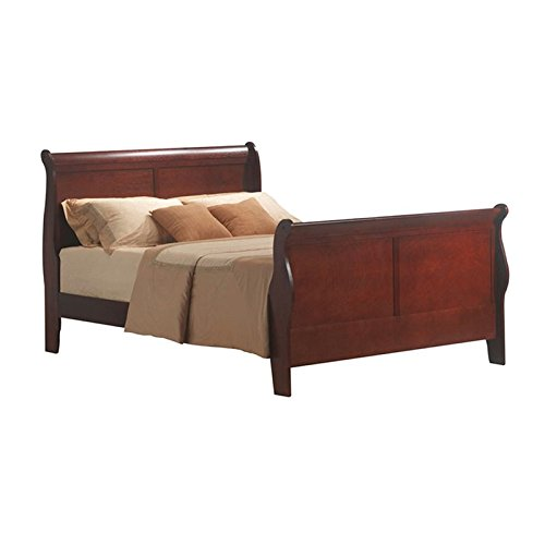 Bedroom Cherry Bedroom Set - ACME 19520Q Louis Philippe III Queen Bed, Cherry Finish