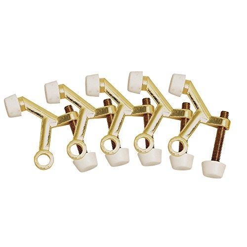 Design House 181750 Standard Hinge Pin Door Stop, 5-Pack, Polished Brass