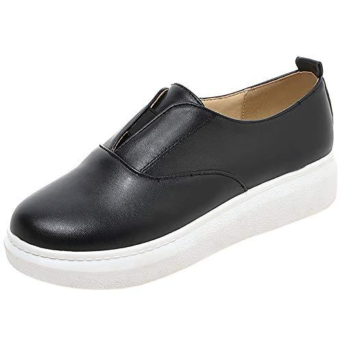 Mocassins Femmes RAZAMAZA Confort Noir Plateforme Chaussures q8xZt