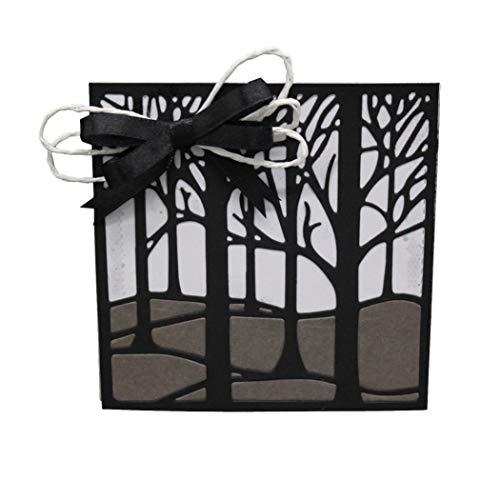 (Cutting Dies Christmas, Tree Hillside Mountain Slope Branch Metal Cutting Dies Card Making Scrapbooking Stencils Album Paper Card Craft Embossing DIY Decorative Background)