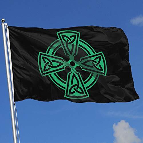 - TJHJOL Celtic Cross Knot Irish Shield Warrior 3x5 Feet House Flag