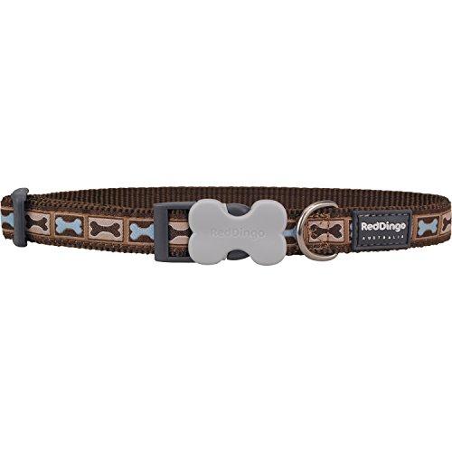 Red Dingo Bone Yard Brown XS Dog Collar