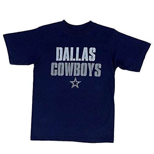 Dallas Cowboys Tee Shirts (Dallas Cowboys Men's Distressed Stencil Stack T-shirt Navy (Medium))