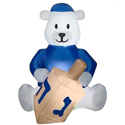 Airblown Inflatable Hanukkah Bear with Dreidel ()