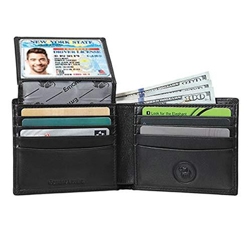 Men's Genuine Leather Wallet – RFID Blocking Security Wallet by Emanuel