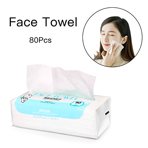 Facial Cotton Tissue Cotton Soft Towel Durable Multi-purpose Wipes for Cleaning Face, Makeup Remover, Baby Care, Dry Wet Amphibious 80Pcs 7.9inch×7.9inch by ZMBeauty (Image #8)