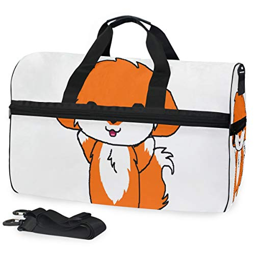 Gym Bag Baby Fox Duffle Bag Large Sport Overnight Yoga Bag for Men Women