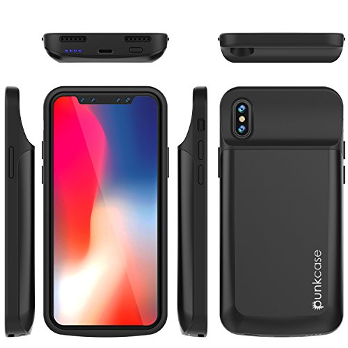 iPhone X Battery Case, PunkJuice 6000mAH Fast Charging Power Bank W/ Screen Protector | Integrated USB & Lightning Port | Slim, Secure and Reliable | Designed for Apple iPhone 10 [Black] by punkcase (Image #6)