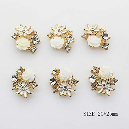 - Maslin 2025mm Alloy Buttons 10Pcs/Lot Flatback Pearl Button for Greeting Card DIY Handwork Ribbon Decoration