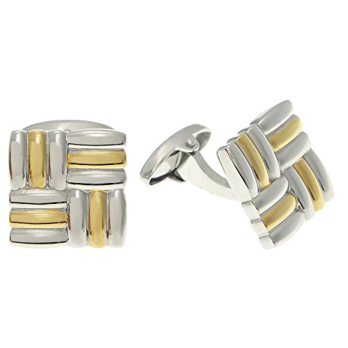 Metro Jewelry Stainless Steel Cuff Links Gold IP - Plating Cufflinks Ip