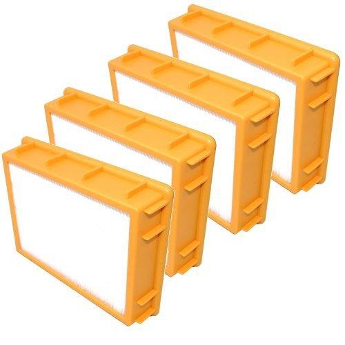 HQRP HEPA Filter 4-Pack for Eureka Boss SmartVac 4870K-1 4870K-2 4870MZX 4874 4870MZ-1 4870MZX-1 4870MZ-2 4870MZX-2 4870PZ 4870PZ-1 4870AT 4870BT 4870 Vac Vacuum Cleaner Upright Coaster ()