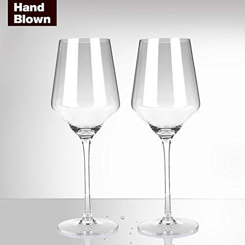 Bella Vino Short Stem Lead-Free White Wine Crystal Glass, (Glassware White Wine Glass)