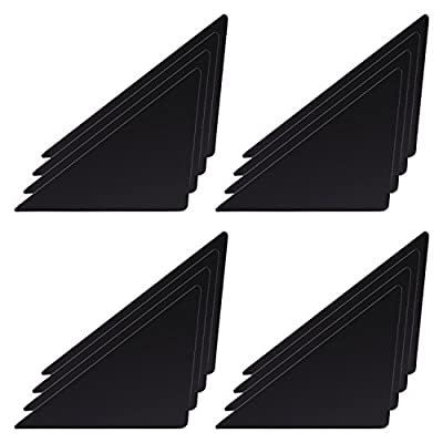 Shappy Carpets Corner Grippers Rug Stopper Non-slip Mat, 1 mm/ 0.04 Inch in Thickness, Black, 16 Pack