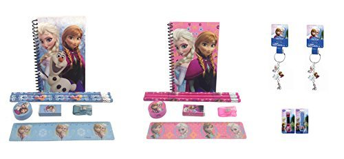 - Disney Frozen Queen Elsa and Princess Anna Combo Stationary Set + LCD Watches and Keychains