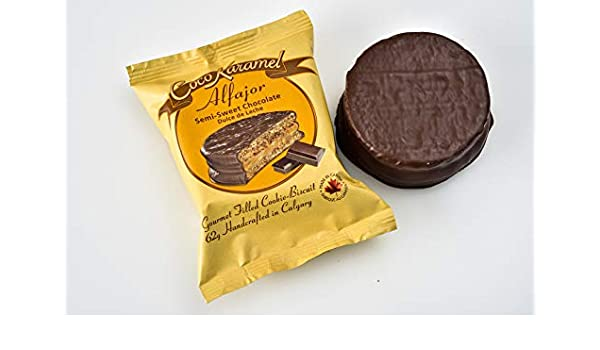 Alfajores - Dark Milk Chocolate - Dulce de Leche - Gourmet Cookie-Pie - 6 Pack Gift Box: Amazon.com: Grocery & Gourmet Food
