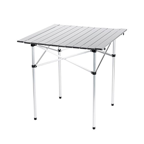 Camping Picnic Folding Portable Table Table Roll up Top Hiking w/Carry Bag by Foldable Desk