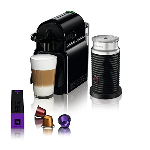 Large Product Image of Nespresso Inissia Espresso Machine by De'Longhi with Aeroccino, Black