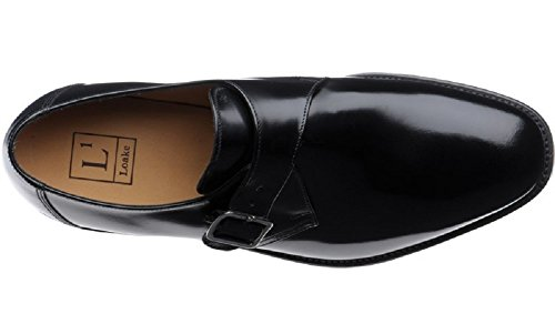 Loake Men's 204B Buckle Monk Polished Leather Shoes Black jXTScz6L
