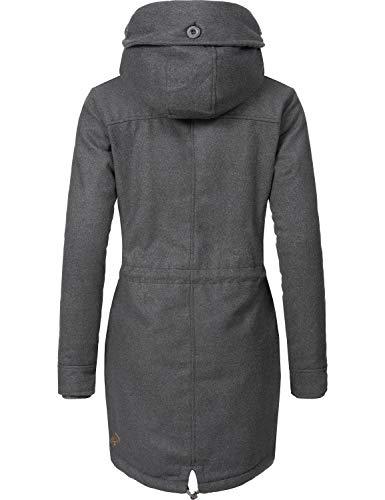 De Laine A Femme Elba Manteau Pour 7 D'hiver xxl All Ragwear Xs Couleurs Coat Black xwqUICp44X