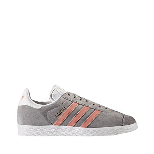 adidas Originals Women's Gazelle W Sneaker, Grey/Raw Pink/White, ...