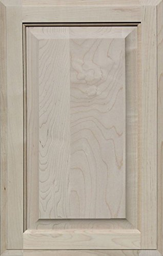 Unfinished Maple Cabinet Door, Square with Raised Panel by Kendor, 22H x 14W