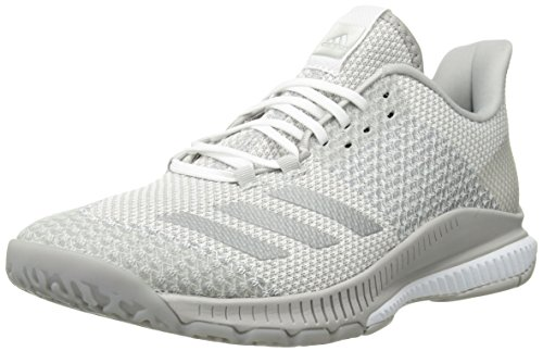 premium selection 57a75 b186f adidas Women s Crazyflight Bounce 2 Volleyball Shoe, White Silver  Metallic Grey, 11 M US