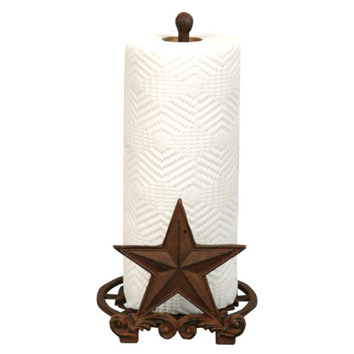 - Cast Iron Star Paper Towel Holder