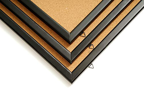Wood Frame Cork Board Bulletin Board 24 x 18, Mounting Hardware, Push Pins Included by gideal (Image #7)