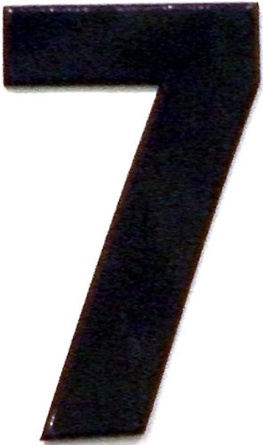 Bold Black Reflective Mailbox or House Number - 7 - Size 2