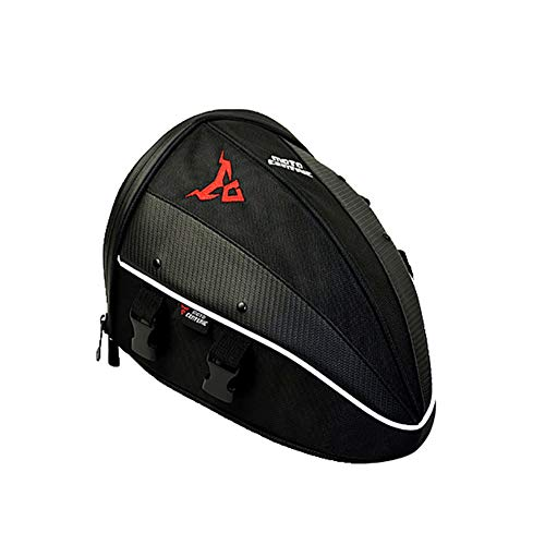 MTSBW Motorbike Saddle Bags Motorcycle Waterproof Nylon Shell Rear Seat Bag Tail Riding Knight Side Helmet Luggage ()