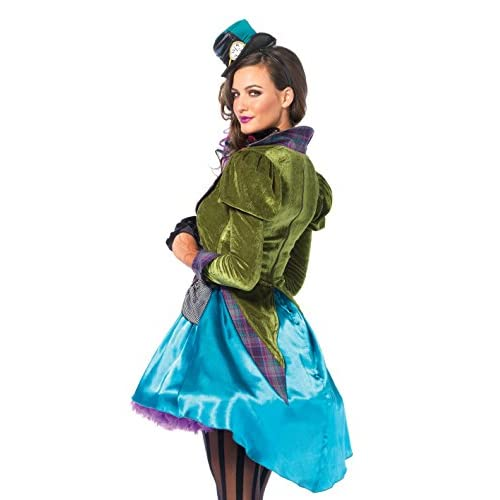 Leg Avenue Women's 3  Piece Deluxe Mad Hatter Costume