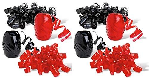 Buffalo Plaid Gift Wrap Supplies (6 Bows, 6 Rolls Curling Ribbon)