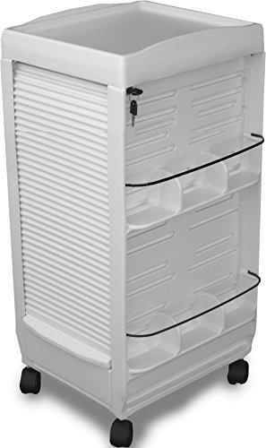C185E Medical Physician Lockable WHITE Cart Mini 30