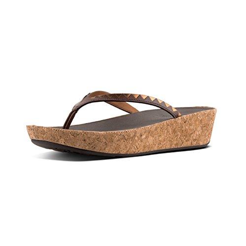 Chanclas Toe 558 Mujer bronze Para thong Mirror Linny Zigzag Sandals espresso Multicolor Fitflop Mirror Tm 0FRwqEga