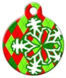 Argyle Christmas - Custom Pet ID Tag for Cats and Dogs - Dog Tag Art - LARGE SIZE
