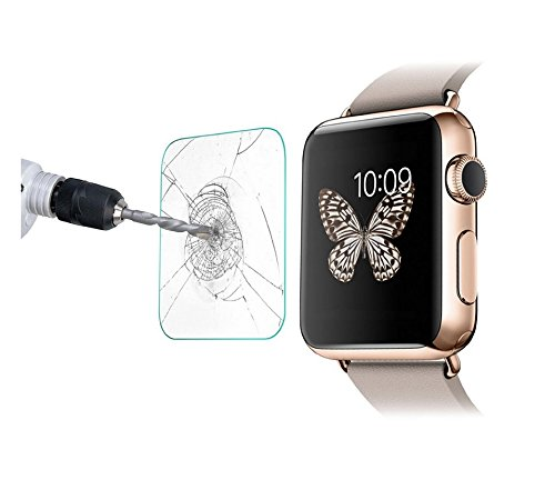 Apple Watch Screen Protector,Mama Mouth Ultra Slim Tempered Glass Film Screen Protector for Apple Watch,Apple Watch SPORT and Apple Watch EDITION 42mm