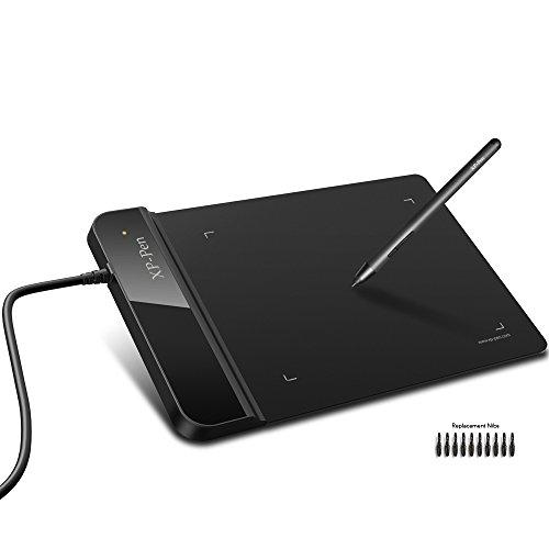 XP-Pen G430 osu Grafiktablett Drawing Stift Tablett (G430, Schwarz)