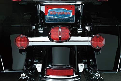 Kuryakyn 5428 Motorcycle Lighting: Flat Style Panacea Rear Turn Signal/Blinker LED Light Inserts for 1994-2013 Harley-Davidson Motorcycles, Red Lens, 1 Pair