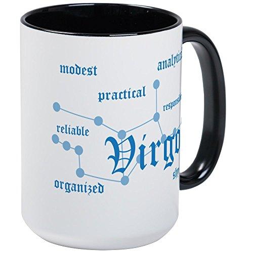 CafePress - Virgo Large Mug - Coffee Mug, Large 15 oz. White Coffee Cup