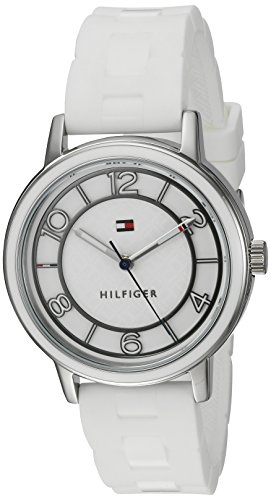 Tommy Hilfiger Women's Quartz Stainless Steel and Silicone Casual Watch, Color:White (Model: 1781667)