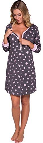 Italian Fashion IF Damen Stillnachthemd Comet 0111 (Rosa, XXL)