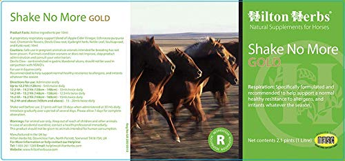 Hilton Herbs Shake No More Gold Allergy Support Supplement for Horses, 2.1pt Bottle by Hilton Herbs (Image #1)