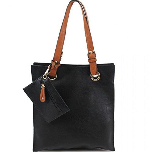 Para Negro Bolso De Multicolor Tela Hb Mujer Material Sintético Style xATqw6wY