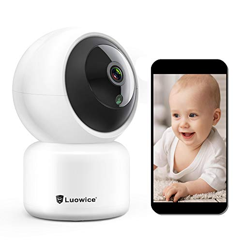 Luowice IP Camera WiFi Wireless Security Camera 1080P Indoor Dome Pet Baby Monitor Pan/Tilt 2MP HD Night Vision CCTV Surveillance Camera Motion Detection Remote Visit with Phone/Tablet/PC