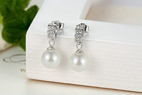 Amazon.com: Aretes De Plata 925 Women Finos Para Mujer a la Moda 2018 Drop Earrings Fine Jewelry Female Drop Earrings AR0035: Jewelry