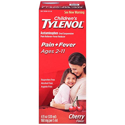 (Tylenol Children's Pain Reliever/fever Reducer Oral Suspension Liquid, Cherry Flavor 4 Oz (Pack of 2))