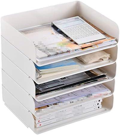 Nobrannd Desktop Storage Box Verstellbarer Tisch Document Organizer File Sorter A4 Papierfaltblatt Stationär Bürobedarf Aufbewahrungsbox auf Schreibtisch mit 5 Ausziehbare Schubladen File Sorter