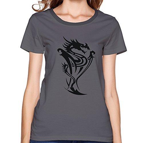 GGifKCU Dragon Tribal Tattoo 14 T Shirts For Women S DeepHeather by GGifKCU