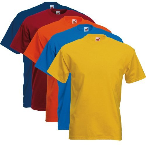 Fruit of the Loom 5er Pack T-Shirts Screen Star Full Cut Farbset I,M