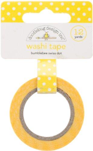Washi Tape 15mm 12 Yards/Roll-Bumblebee Swiss Dot 1 pcs sku# 1775968MA